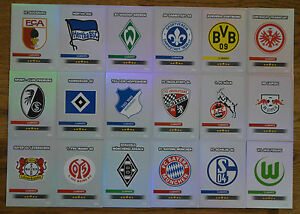 Match Attax 16/17 alle 18 Clubkarten 1. Bundesliga komplett Set 2016/2017