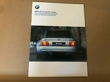 RARE LIMITED BMW E36 Z3 & M Coupe Collector's Series 35 Pages Sales Brochure