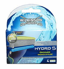 4 Wilkinson Sword Hydro 5 Groomer Rasage Stylise Rasierklingen wie Power Select