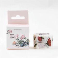 5m Flowers Floral Washi Tape Planner Scrapbook Notebook DIY Decorative Tape
