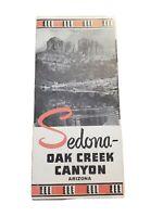 Vintage 1960s  Sedona Arizona oak Creek Canyon Brochure Pamphlet Travel Souvenir