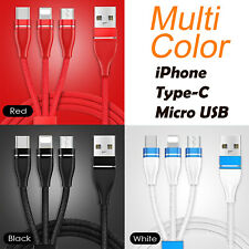Fast USB Charging Cable 3 in 1 Universal Multi Function Cell Phone Cord Charger
