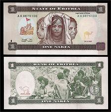 World Paper Money - Eritrea 1 Nakfa 1997 P1 @ Crisp UNC
