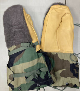 US GI Arctic Military Mittens Mitts Army COLD WEATHER ECW Flyers Gloves Camo