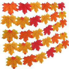 GiBot Assorted Mixed Fall Colored Artificial Maple Leaves 400 Pcs Art Flowers fo