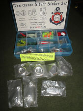 YPS YEAGER POURED SILVER 10 oz SILVER SINKER SET with LURES LIMITED EDITION 100