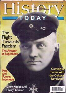 history today-DEC 2003-THE FLIGHT TOWARDS FASCISM.