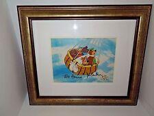 Up Up and Away Hanna Barbera Yogi Bear Hand Painted Cel with COA