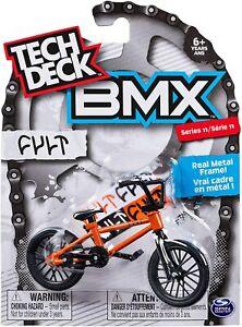 Tech Deck BMX Freestyle Hits Finger Bike Cult Orange Black Series 11 Metal NEW