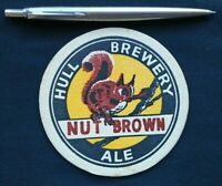 NUT BROWN ALE HULL BREWERY NORTH COUNTRY BREWERIES BEER MAT COASTER 1970S ? NEW