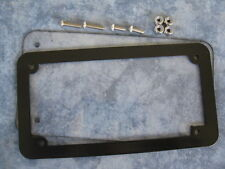 Motorcycle number plate frame / surround & lens, suit HARLEY DAVIDSON , TRIUMPH
