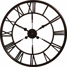 House of Durante The Blackpool Skeleton Wall Clock 60cm Dark Copper Finish