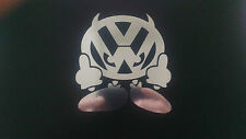 VW badboy devil man decal sticker in chrome vinyl golf beetle polo bus