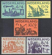 Netherlands 1959 Relief Fund/Sea Defence/Ships/Environment/Transport 5v (n37984)