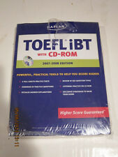 TOEFL iBT by Kaplan (2007-2008, Mixed Media)BRAND NEW NEVER USED STILL SEALED!!!