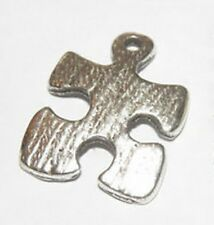 Autism Awareness Charms Puzzle Piece 15mm Aspergers Silver Lot of 10