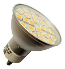 GU10 24 SMD LED 380LM 3.5W Dimmable White Bulb with Glass Cover ~50W