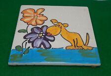 New listing Cats & Dogs & People Too - Debby Carman - Ticklish Fancy Dog Trivet Wall Art