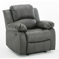 Recliner Chair Sofa Single Modern Leather Heavy-Duty Padded Seat Armrest Lounge