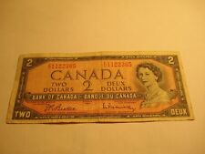 1954 - Canada $2 bill - Canadian two dollar - FU1122365