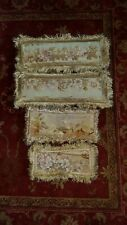 More details for 4 x antique 18th century french aubusson tapestry boudoir cushions /pillows