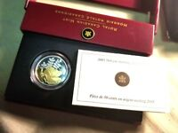 2005 Canada 50 Cents Sterling Silver Golden Rose Mint Set.