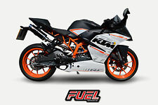 KTM RC125 14+ Hi Level F1R Race Black SS Moto GP Style Exhaust + Black Bracket