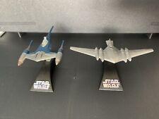 Star Wars Titanium Naboo Royal Cruiser & Patrol Fighter ship diecast