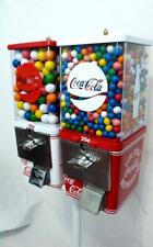 Coca Cola double gumball machines+ stand Coke memorabilia vintage candy machine