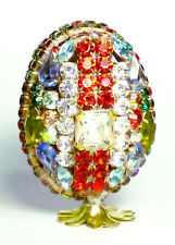 3D EGG Luxury Vintage Czech Handmade Rhinestones Easter Decoration 1
