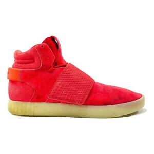 Adidas Tubular Invader Strap Men's Red Suede Mid Top Shoes BB5039 Size 13 US