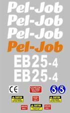 Decalcomania Sticker Set per Pel-Job EB25-4 Mini Escavatrice BAGGER Pelle