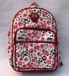 Disney Baby Minnie Mouse Multipiece Diaper Bag Set Adjustable Backpack Rose Pink