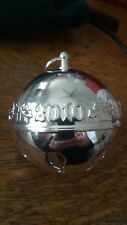 Wallace 2010 Silver Plate Bell/Ornament - 12 available