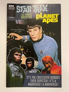 IDW STAR TREK/PLANET OF THE APES : THE PRIMATE DIRECTIVE #5 RI NIMOY PHOTO COVER
