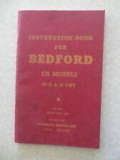 Original 1958 Bedford van CA models 10-12 & 15 cwt owners manual