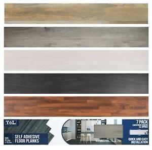 Floor Planks Tiles Self Adhesive Wood Effect Vinyl Flooring Kitchen Bathroom