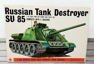 Bandai Russian Tank Destroyer SU 85 Red Armor Tank Series No. 2 1/48 Scale NOB