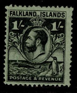FALKLAND ISLANDS GV SG122, 1s black/emerald, M MINT. Cat £27.