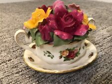 Royal Albert Old Country Roses Cup of Soup Bouquet Music Box Ltd Ed 12181/14000