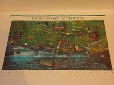 Stamp Sheet Pacific Coast Rain Forest Nature of America 2nd Series Ten 33 Cents