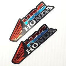 2PC. RED HRC HONDA WING DECAL REFLECTIVE STICKER DIE-CUT FOIL EMBOSS CAR BIKE