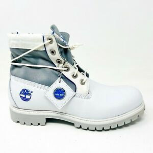 Timberland Mens 6 Inch Premium Boots Roll Top WTE Royal White Gray 83077