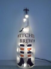 Witches Brew, Halloween, fun, spider, bat, light, recycled, wine, bottle, lamp