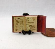 1/24 Scale BOOK Of WESEN LORE Miniature Book Dollhouse Illustrated Book Grimm