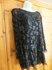Stunning All Saints black sequin dress size 10