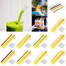 Reusable Glass Straws Wedding Birthday Party Drinking Straw Bar +Cleaning Brush#