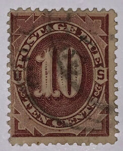 Travelstamps:1884-1889 US Stamps Scott #J19 used Ng Postage Due 10 cent
