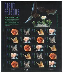 USA 2002 Night Friends American Bats Full Sheet of 20 Stamps Self-adhesive MUH