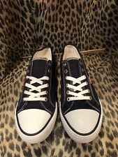 cb623e2d2ddc60 Levi s Womens Canvas Upper Shoes Comfy Fashion Casual Navy Size 7 US CONVER
